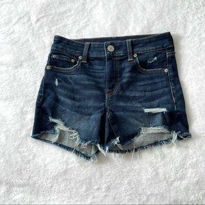AEO Midi distressed shorts sz 2 stretch (Б10)